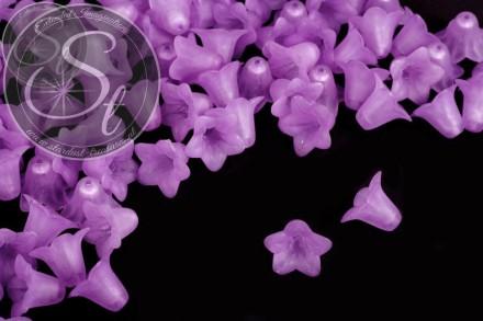 20 Stk. helllila Acryl-Blüten frosted 18mm-31