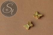 5 Stk. goldfarbene Flügel-Perlen aus Metall 15mm-20