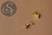 6 Stk. goldfarbene Flügel-Perlen aus Metall 16mm-20