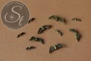 10 Stk. bronzefarbene Flügel-Perlen aus Metall ~ 12-21mm-20