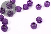 5 Stk. lila Metallgitter Perlen ca. 11mm-20