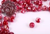 10 Stk. runde rote Kunstharz Muschel Perlen 10mm-20