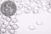 10 Stk. transparente runde Glascabochons 10mm-20