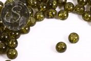 10 Stk. olivgrüne Crackle Glas Perlen 12mm-20