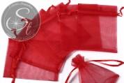 5 Stk. rote Organza-Säckchen 10cm-20