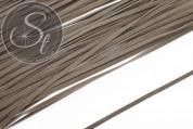 1m graubraunes Kunst-Wildlederband 3mm-20