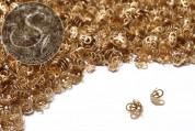 30 Stk. messingfarbene Perlenkappen ~8,5mm-20