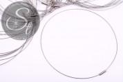 1 Stk. silbernes Edelstahl-Collier ~43cm-20