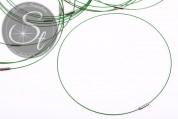 1 Stk. grünes Edelstahl-Collier ~43cm-20