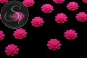 4 Stk. pinke Blumen Cabochons 15mm-20