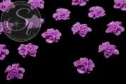 4 Stk. rosalila Blumen Cabochons 16mm-20