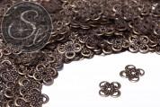 20 Stk. antik-bronzefarbene filigrane Blumen Metallelemente 13mm-20