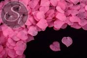 20 Stk. rosa Lucite-Blätter frosted 16mm-20