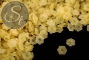 20 Stk. gelbe Lucite-Blüten frosted 12mm-20