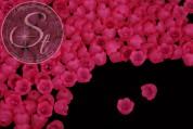 20 Stk. pinke Acryl-Blüten frosted 10mm-20