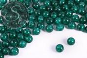 10 Stk. petrolfarbene Crackle Glas Perlen 12mm-20