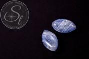 2 Stk. handgemachte flache ovale Glashohlperlen 25-27mm-20