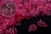 20 Stk. pinke Lucite-Blätter transparent 27mm-20