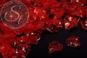 20 Stk. rote Acryl-Blätter transparent 25mm-20