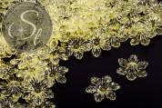 10 Stk. gelbe Acryl-Blüten transparent 27,5mm-20