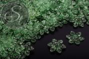 10 Stk. dunkelgrüne Acryl-Blüten transparent 27,5mm-20
