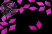 5 Stk. zyklamfarbene Rhombus Muschel Perlen 17,5mm-20