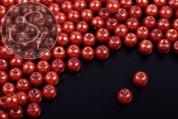 40 Stk. kupferfarbene Wachs Glas Perlen 6mm-20
