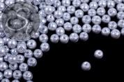 40 Stk. graue Wachs Glas Perlen 6mm-20
