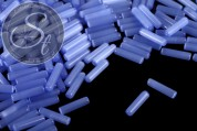 10 Stk. blaue zylindrische Cateye Perlen 15mm-20