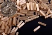 10 Stk. beige zylindrische Cateye Perlen 15mm-20