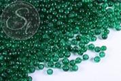 40 Stk. dunkelgrüne Crackle Glas Perlen 4mm-20