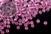 40 Stk. hellrosa Crackle Glas Perlen 4mm-20