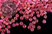 40 Stk. rosa/gelbe Crackle Glas Perlen 4mm-20