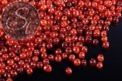 40 Stk. dunkelorange Crackle Glas Perlen 4mm-20