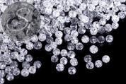 40 Stk. transparente Crackle Glas Perlen 4mm-20