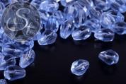 20 Stk. blaue facettierte tropfenförmige Glasperlen 8mm-20