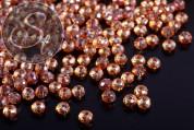 20 Stk. orange facettierte abakusförmige Electroplate Glasperlen 3mm-20
