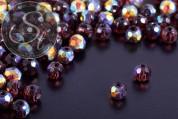 30 Stk. lila runde facettierte Electroplate Glasperlen 4mm-20