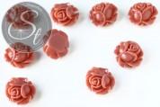 2 Stk. lachsfarbene Blumen Cabochons 21mm-20