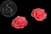1 Stk. pinkes Blumen Cabochon 31mm-20