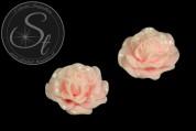 1 Stk. rosa Blumen Cabochon 31mm-20