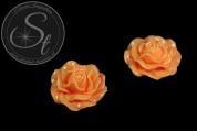 1 Stk. oranges Blumen Cabochon 31mm-20