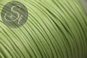 5 Meter hellgrüne gewachste Kordel ~1mm-20
