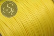 5 Meter gelbe gewachste Kordel ~0,8mm-20