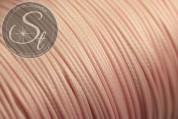 5 Meter rosafarbene gewachste Kordel ~1mm-20
