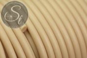 0,5 Meter beige synthetik-Kautschuk Kordel 3mm-20