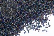 20g dunkelblau/bunt irisierende Glas Seed Perlen ~2mm-20