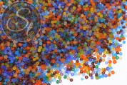 20g Glas Seed Perlen frosted und bunt gemixt ~3mm-20