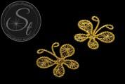 1 Stk. handgemachter goldfarbener Draht-Schmetterling ~40mm-20