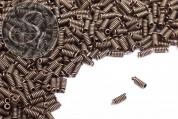 10 Stk. antik-bronzefarbene Spiral-Endkappen ~8,5mm-20